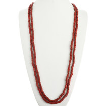 Native American Coral Bead Necklace 31158