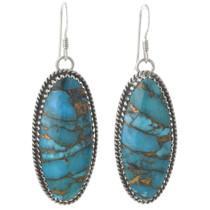 Navajo Turquoise Earrings 31163