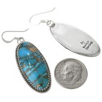 Sterling Silver Earrings Signed Navajo Artist Alvin Joe 31163