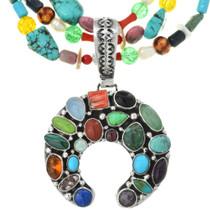 Vintage Turquoise Gemstone Naja Pendant 31195