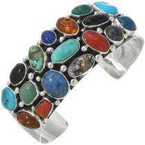 Navajo Turquoise Multi-Stone Cuff Bracelet 31201