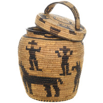 Native American Olla Basket Figural Patterns 31223