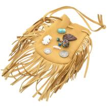 Leather Indian Medicine Bag With Prayer Bundle 31224