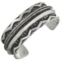 Vintage Sterling Silver Navajo Cuff Bracelet 31241