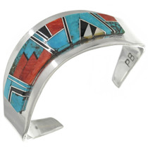 Native American Turquoise Inlay Bracelet 31246