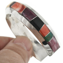 Navajo Multi Stone Inlay Bracelet 31247