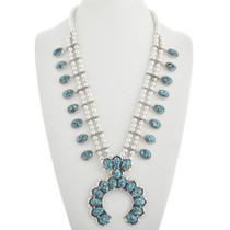 Turquoise Squash Blossom Necklace 31251