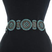 Zuni Turquoise Concho Belt 31252