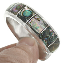 Shell Abalone Inlay Sterling Silver Bracelet 31257