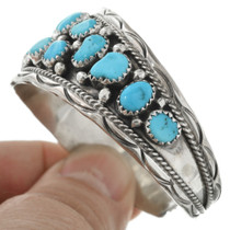 Old Pawn Turquoise Cluster Bracelet 31264