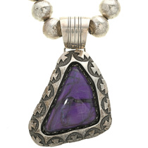 Charoite Silver Pendant Necklace 31273