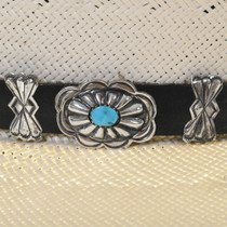 Hammered Sterling Turquoise Hatband 31287