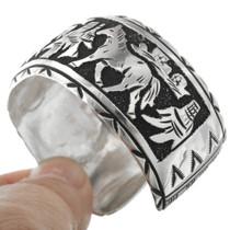 Navajo Sterling Silver Overlay Bracelet 31311