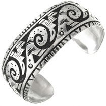Overlaid Sterling Silver Navajo Bracelet 31312