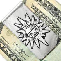 Navajo Silver Overlay Money Clip 31314