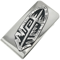 Southwest Silver Feather Money Clip 31322