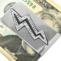Navajo Overlay Silver Money Clip 31323
