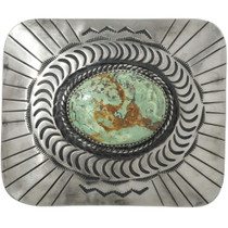 Native American Turquoise Belt Buckle 31324