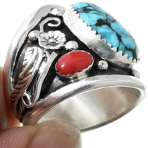 Sterling Silver Turquoise Western Ring 31325