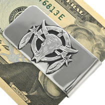 Navajo Buffalo Skull Money Clip 31331