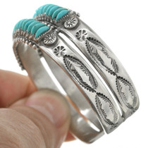 Natural Sleeping Beauty Turquoise set in Sterling Silver Cuff 31338