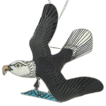 Vintage Zuni Eagle Pendant Brooch 31353