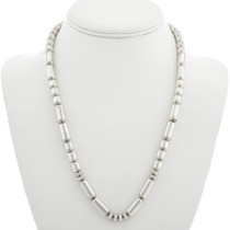 Old Pawn Sterling Silver Bead Necklace 31358