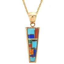 Gold Turquoise Zuni Style Jewelry 31364