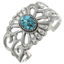 Old Style Navajo Turquoise Silver Bracelet 31367