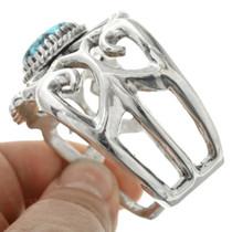 Spiderweb Turquoise Sandcast Silver Cuff 31367
