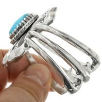 Navajo Sandcast Sterling Silver Western Bracelet 31371
