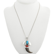 Turquoise Coral Bear Claw Pendant 31375