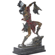 Indian With Bear Cub Bronze Statue31376