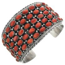 Vintage Spiny Oyster Silver Cuff Bracelet 31378