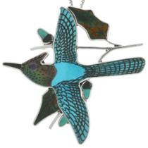Zuni Turquoise Blue Jay Pendant 31379
