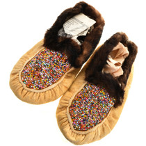 Native American Beaded Moccasins 31506