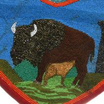 Nez Perce Tribe Beaded Buffalo Bag 31509
