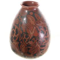 Mata Ortiz Redware Pottery Vase 31514