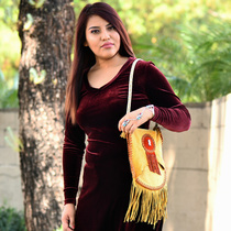 Native American Natural Leather Bag 31448