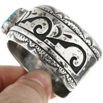 Vintage Navajo Overlaid Silver Bracelet 31473