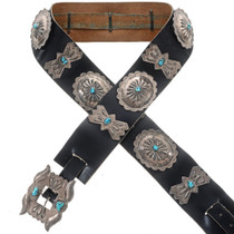Old Pawn Handmade Concho Belt 31483