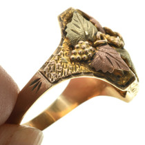 18K Gold Signet Mens Ring 31484