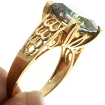 Gold Gemstone Ring Vintage Jewelry 31489