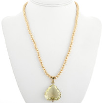 Faceted Citrine Gold Pendant 31491