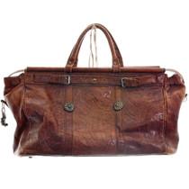 Large Vintage Western Tooled Leather Bag 31499