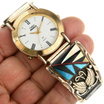 Native American Turquoise Gold Watch 31608