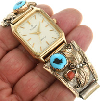 Vintage Native American Gold Watch 31609