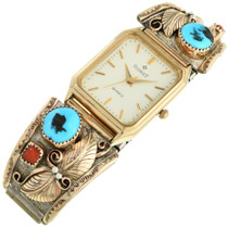 Turquoise Gold Watch 31609