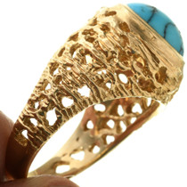 Gold Turquoise Ring 31623