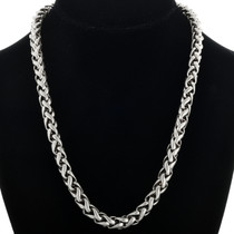 Vintage Sterling Link Necklace 31625